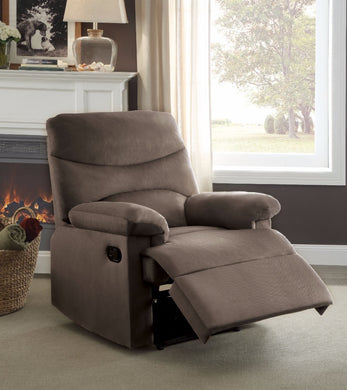 Arcadia Recliner, Light Brown Woven Fabric