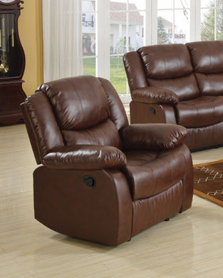 Fullerton Recliner, Brown Bonded Leather Match