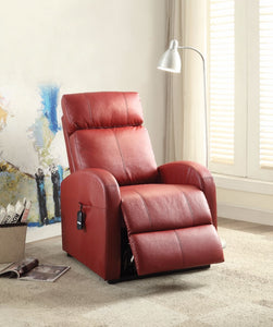 Ricardo Recliner with Power Lift, Red