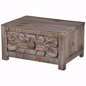 Utterly Classic Fir Wood Tabletop Drawer, Brown