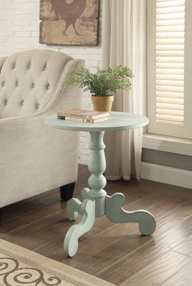 End Table, Antique Green