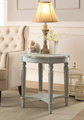 End Table, Antiqued Green