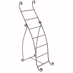 Well Designed Standing Metal Towel Rack, Silver