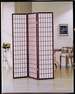 3-Panel Wooden Screen, Cherry