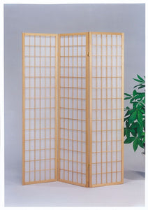 3-Panel Wooden Screen, Natural