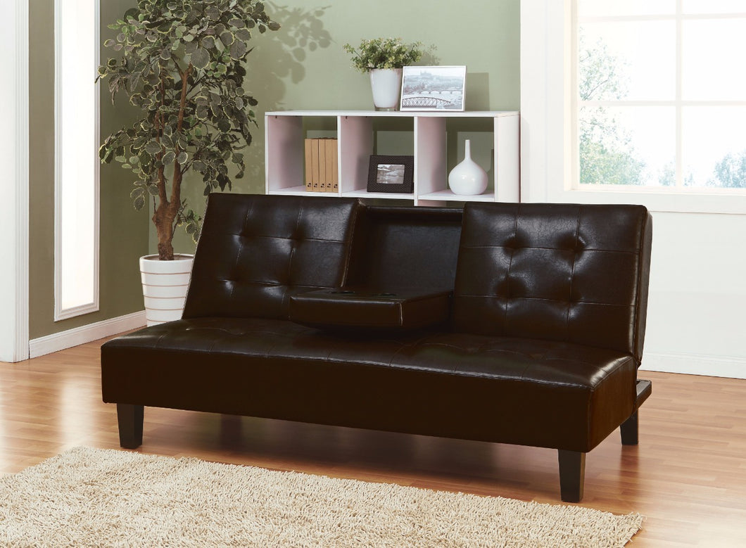 Adjustable Sofa with Drop Back & Cup Holders, Espresso