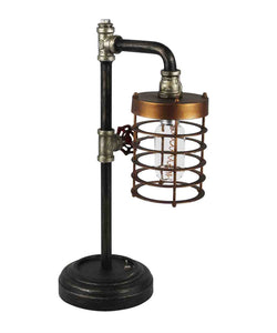 METAL INDUSTRIAL PIPE LED TABLE LAMP, MULTICOLOR