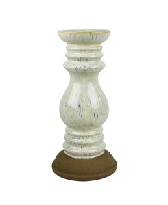 Elegant Ceramic Candle Holder, White