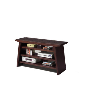 Wooden Entertainment TV Stand, Brown