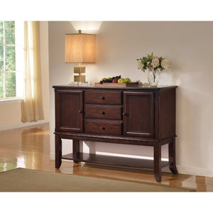 Storage Side Board with Three spacious Drawers, Brown