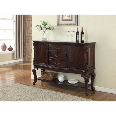 Aesthetically Designed Commodious Side Board, Brown