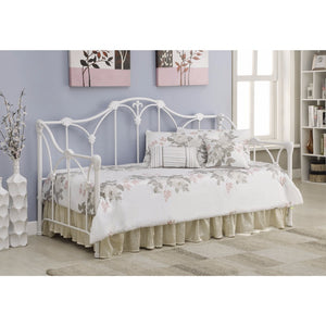 Well-designed Twin Metal Daybed with Floral White Frame