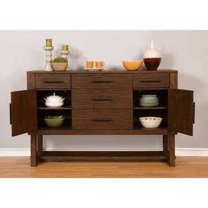 Well-designed Wooden Server With Storage drawers, Brown