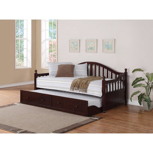 Traditionally-Styled Wood Daybed with Trundle, Brown
