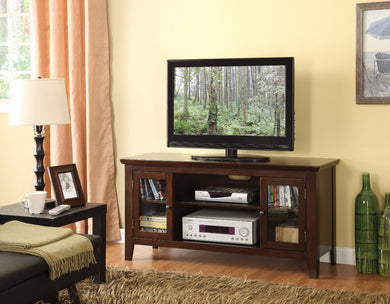 Spacious TV Stand, Espresso Brown