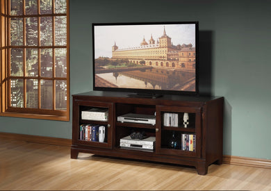 Modish TV Stand, Merlot Brown