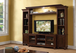 Voguish Entertainment Center, Walnut Brown