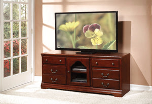 Trendy TV Stand, Cherry Brown