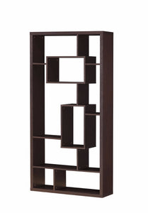 Commodious Bookcase, Cappuccino Brown