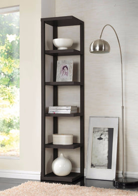 Voluminous Bookcase, Cappuccino Brown