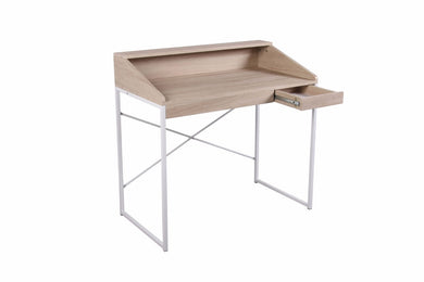 Writing Desk With 1 drawer, Brown & White