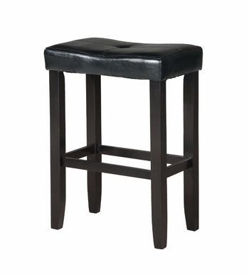 Wooden Counter Height Stool (Set-2), Black