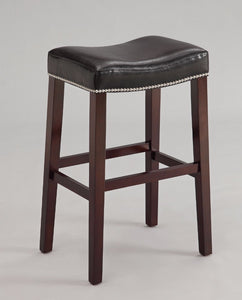 Modish Counter Height Stool (Set-2), Black & Espresso