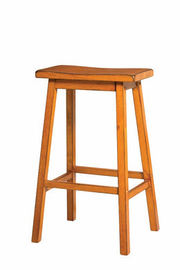 Wooden Bar Stool (Set-2), Antique Oak