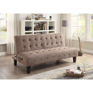 Traditional Style Sofa Bed, Light Brown