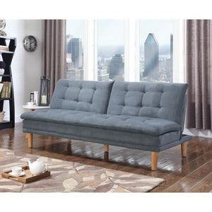 Tufted Modern Stylish Sofa Bed, Gray