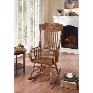 Antique Style Rocking Chair, Warm Brown
