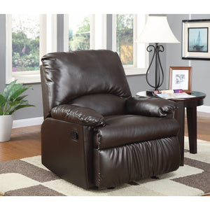 Functionally Relaxing Glider Recliner Chair, Brown