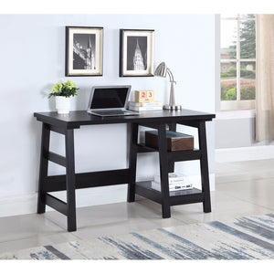 Well-designed Wooden Writing Desk, Black