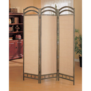 Transitional Style Wooden Folding Screen, Gray