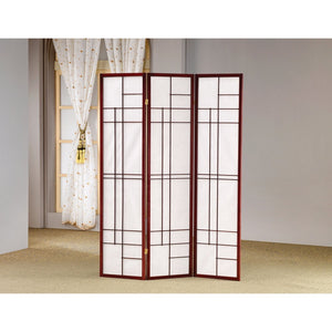 Classic 3 Panel Wooden Folding Screen, Brown