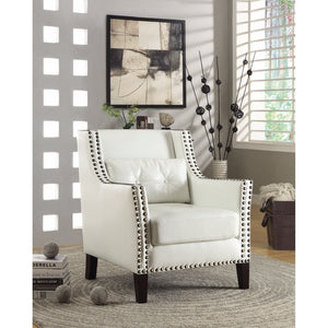Highly Sophisticated Accent Chair, White