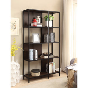 Minimalist Four Shelf Bookcase, Brown