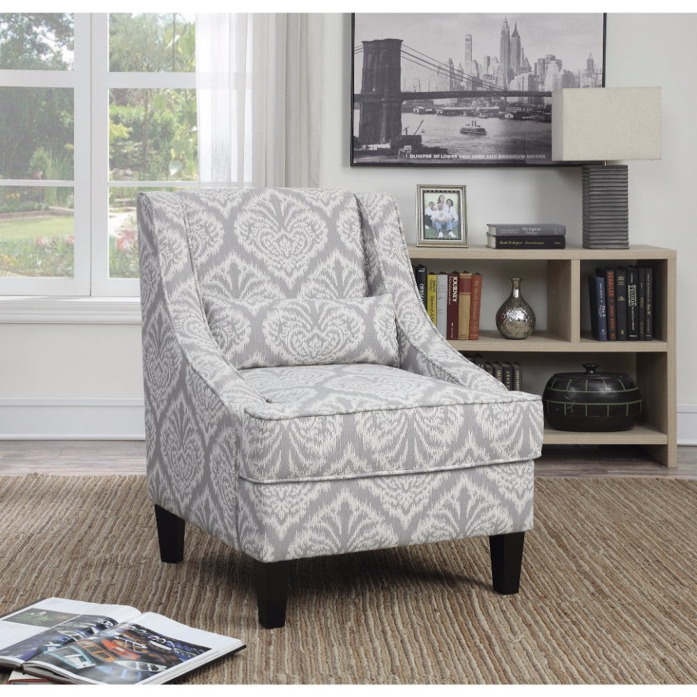 Rustically Charmed Accent Chair, Gray/White