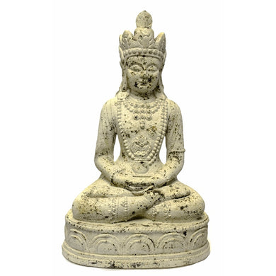 Distressed Meditating Buddha, White