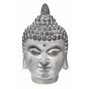 Thai Buddha Head, White and Gray