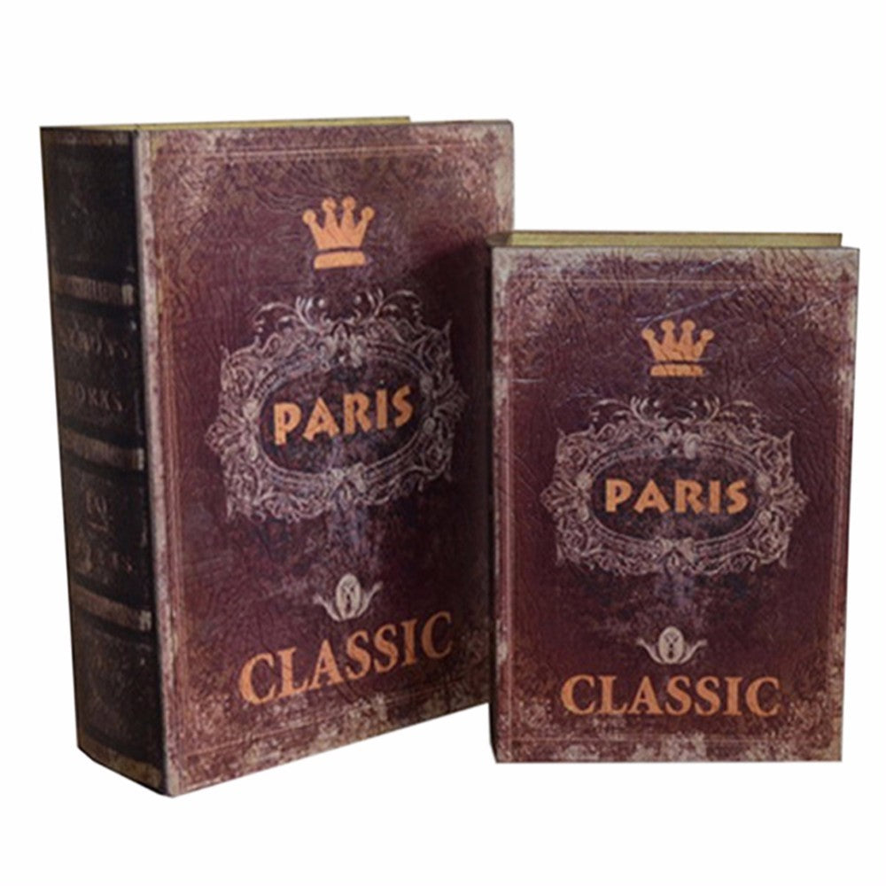 Glory book boxes, Brown, Set of 2