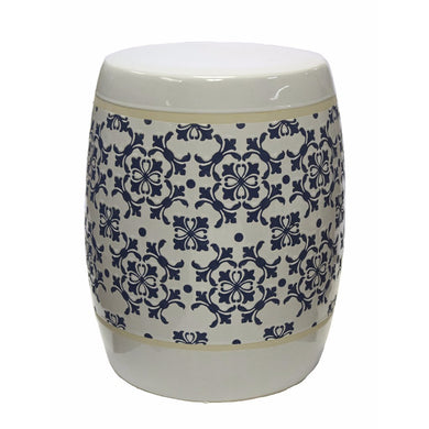 Ceramic Garden stool, Blue and White