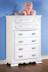 Wooden Spacious Chest, White