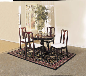 Stylish Dining Set of 5 Piece Pack, Cherry Brown