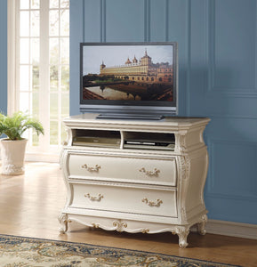 TV Console, Pearl White