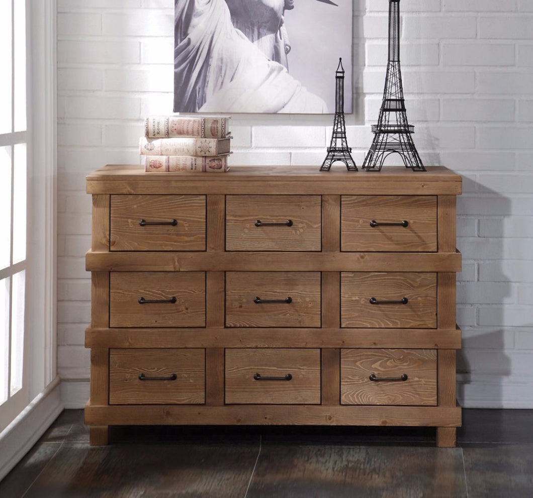 Capacious Wooden Dresser, Antique Oak