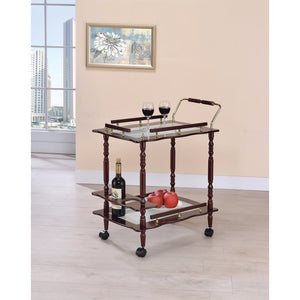 Traditional Dining Serving Cart, Brown