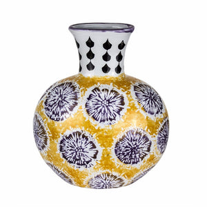 Modish Ceramic Sunrise Vase In Multicolor