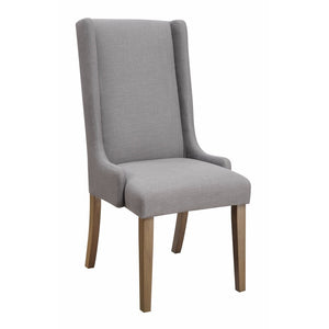 Classy Wing Back Design Dining chair, Gray And Brown