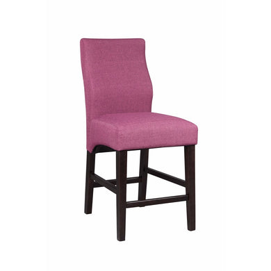 Fine-looking Upholstered Wooden Counter Height Stool, Pink